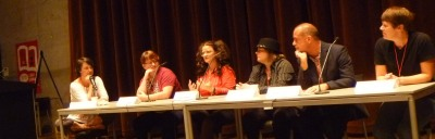 GRNW 2014 Panelists Anne Tenino, Jove Belle, Ginn Hale, Jordan Castillo Price, Rick R. Reed, and Karis Walsh