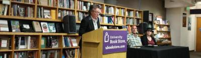 Radclyffe reading at the University Book Store on Sept. 19.